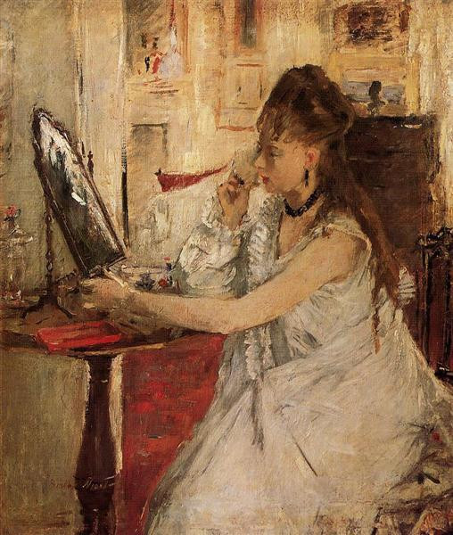 young woman powdering herself 1877 XX musee dorsay paris france